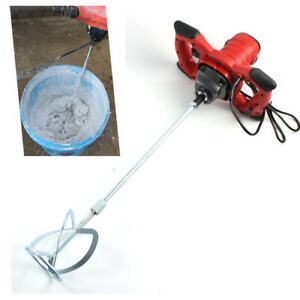 1500w Mortar Mixer Cement Render Paint Concrete Glue Plaster Rotary Drill Shaft