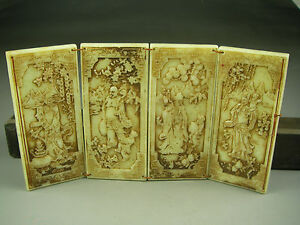 Antique Chinese Hand Carved Jade Statues Immortal