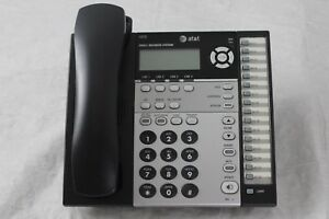 Lot Of 6 At t 1070 4 Line Small Business System Black Corded Desk Phones