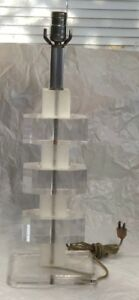 Great Mid Century Modern Lucite Table Lamp