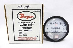 Dwyer Magnehelic Differential Pressure Gage 1 0 1 Model 2302 Used a 12 3