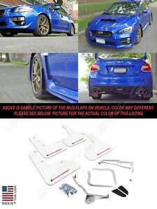 Rally Armor Ur Series White Mud Flaps W Red Logo For 2015 2019 Wrx