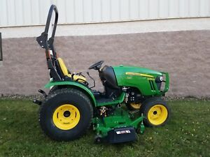 John Deere 2032r 4wd Compact Tractor 62d Mower Hydro Lift W 439hrs Very Nice