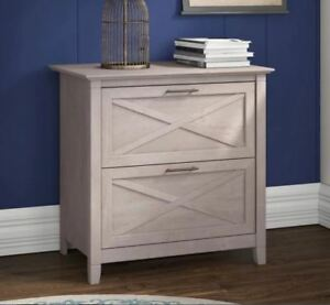 2 Drawer Lateral File Cabinet Weathered Gray Home Office Farmhouse Printer Stand