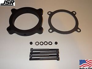 11 17 Mustang Gt 5 0 Throttle Body Intake Spacer Plate 80mm Nitrous Npt Black