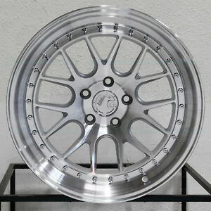 4 new 18 Aodhan Ds06 Ds6 Wheels 18x8 5 5x114 3 35 Silver Machined Rims