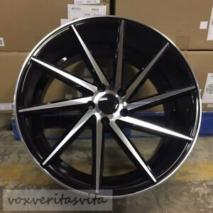 19 Staggered 8 5 9 5 Black Machine Swirl Concave Style Wheels Rims 5x114 3