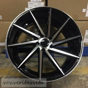19 Black Swirl Style Staggered Wheels Rims Fits Lexus Is Is300 Is250 Is350