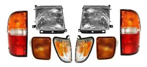 1998 1999 2000 For Ty Tacoma 4wd W pre Headlights Corner Signal Tail Lamps