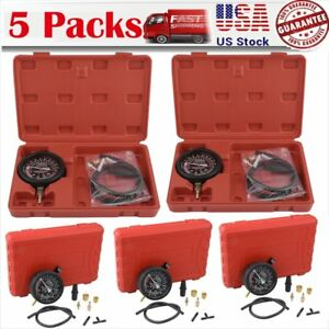 5x Fuel Pump Vacuum Tester Gauge Leak Carburetor Pressure Diagnostics W Case Ma