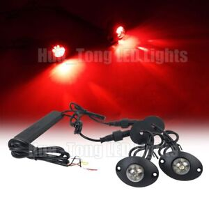 2in1 12 W Led Hide Away Emergency Patrol Truck Vehicle Warning Strobe Lights Red