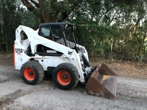 2007 Bobcat S250 High Flow Skid Steer Loader With Kubota Diesel Only 2200 Hrs