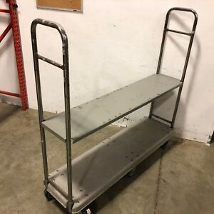 Heavy Duty 16 X 63 Dolly U boat Utility Cart Platform W Shelf Hand Truck