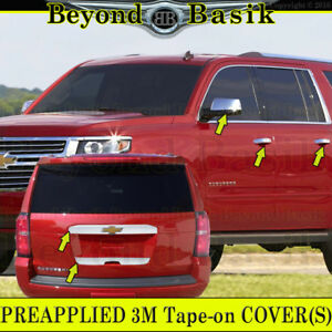 2015 2019 Chevy Suburban Tahoe Chrome Door Handle Covers 4smrt Mirrors Tailgates