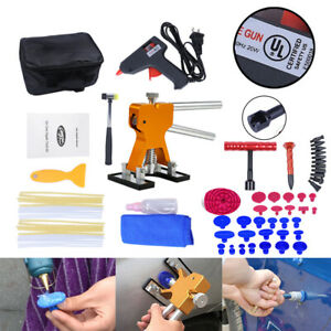 Pdr Tools Paintless Dent Repair Puller Lifter Kit Hail Removal Slide Hammer Glue