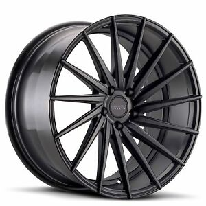20 Varro Wheels Vd15 5x120 Staggered Gloss Black For Bmw Camaro More
