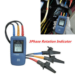 128x68x30mm Cem Dt 901 Three 3 Phase Rotation Indicator Tester Meter 40 960v Kit