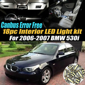 18pc 2006 2007 Bmw 530i Canbus Error Free Car Interior Led White Light Bulb Kit