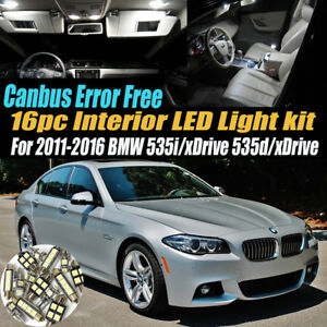 16pc 11 16 Bmw 535i D Xdrive Canbus Error Free Interior Led White Light Bulb Kit
