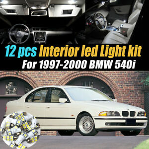 12pc Super White Car Interior Led Light Bulb Kit For 1997 2000 Bmw 540i