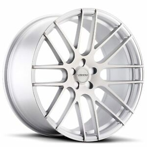 New 4 22x9 22x10 5 Wheels Varro Silver Staggered Mercedes Bmw 7 Series
