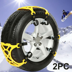 2x Auto Wheel Tire Snow Mud Anti Skid Chains For Car Truck Suv Emergency Belt