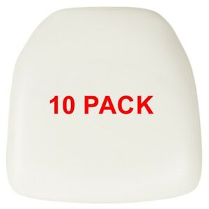 10 Pack Hard White Vinyl Chiavari Chair Seat Cushion For Resin Chairs