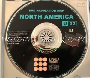 2006 To 2009 Lexus Toyota Navigation Gps Dvd Map U32d Version 7 1 86271 53022