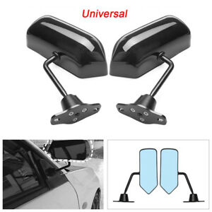 1 Pair F1 Style Rear View Racing Side Mirror Wing Mirror Convex Glass Universal