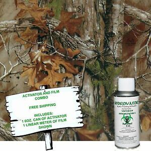 Hydrographic Film Water Transfer Hydro Dip 6oz Activator W Autum Camo Dip Kit