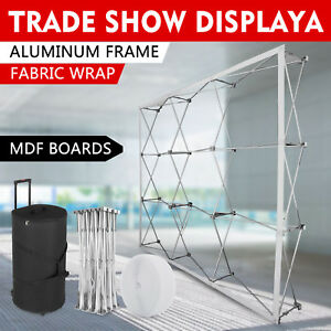 8ft Portable Display Trade Show Booth Exhibit Black Pop Up Kit