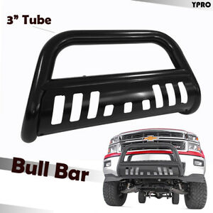 08 10 Chevy Silverado 2500hd 3500hd Black Bull Bar With Skid Plate Grilles Guard