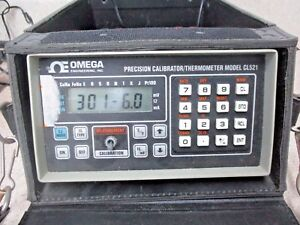 Omega Cl521 Precision Calibrator thermometer 1214745j Used