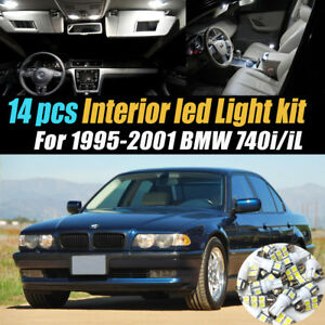14pc Super White Car Interior Led Light Bulb Kit For 1995 2001 Bmw 740i 740il