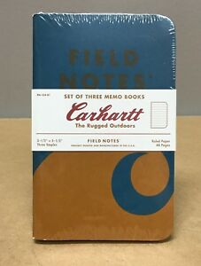 Field Notes X Carhartt the Rugged Outdoors Sealed 3 pack Memo Notebooks Rare