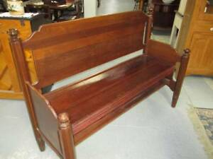 Wood Wooden Bench Pew Style