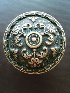 Antique Ornate Brass Bronze Door Knob Victorian Eastlake Taylor Boggis G 12200