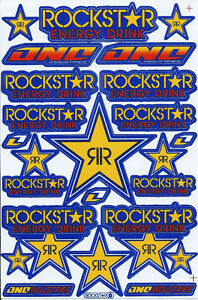 New Rockstar Energy Motocross Racing Graphic Stickers Decals 1 Sheet St190