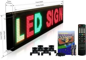 Led Fully Programmable Sign Board