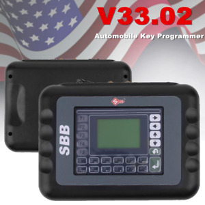 Car Key Programmer Transponder V33 02 Diagnostic Tool Obdii Obd2 Pb