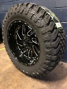 20x10 Fuel D581 Triton 35 Mt Wheel And Tire Package 5x5 Jeep Wrangler Jk Jl