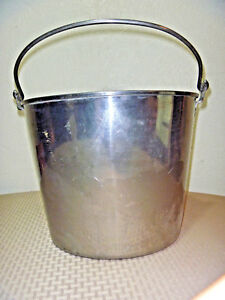 Heavy Duty Ice Bucket Stainless Steel 13 Qt Milking Maple Syrup Pail