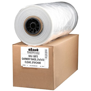 Dry Cleaning Poly Bags 21x7x72 270 roll