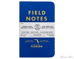 Field Notes county Fair Florida Sealed 3 pack Memo Notebooks Pads