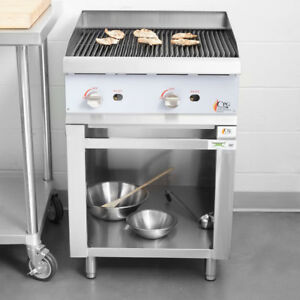 24 Gas Radiant Freestanding Commercial Restaurant Charbroiler With Cabinet Base