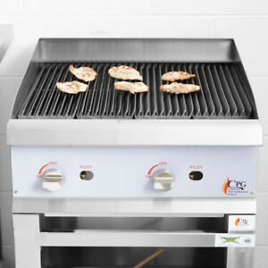 24 Gas Radiant Commercial Restaurant Kitchen Countertop Charbroiler