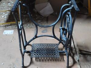Vintage Industrial Era Age Cast Iron Sewing Treadle Machine Base Table Desk Legs