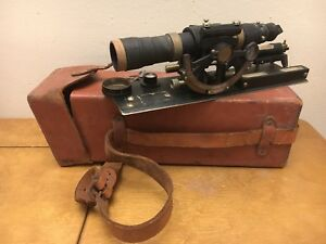 Vintage 1954 David White Builder s Transit Level And Hardshell Leather Case Atb