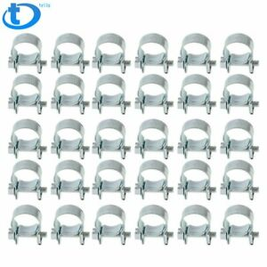 New 30pcs 5 16 Fuel Injection Hose Clamp Auto Fuel Clamps Free Usps