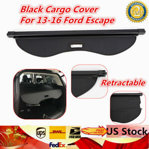 Fit For 2013 2016 Ford Escape Rear Inner Trunk Security Cargo Cover Shade Shield